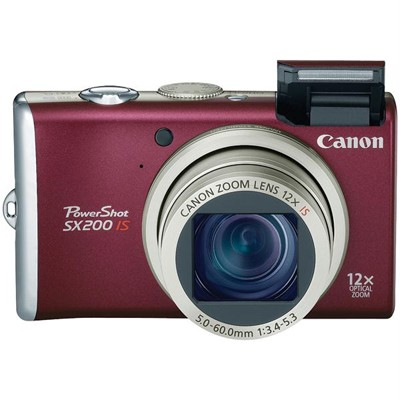 Canon PowerShot SX200 IS Red