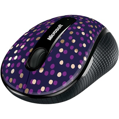 Microsoft Wireless Mobile Mouse 4000 Eggplant Dot