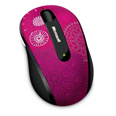 Microsoft Wireless Mobile Mouse 4000 Pirouette Pink