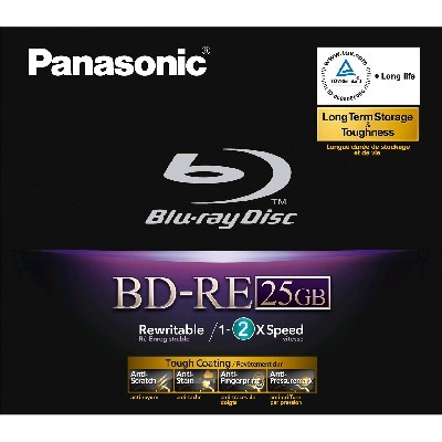 Blu-Ray Panasonic BD-RE 2x 25 GB Jewel