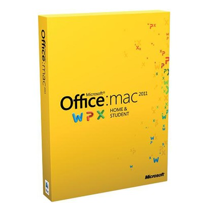 Microsoft Office Mac Home and Student 2011 GZA-00145