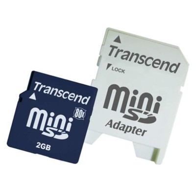 Transcend 2GB Mini Secure Digital Card TS2GSDM80